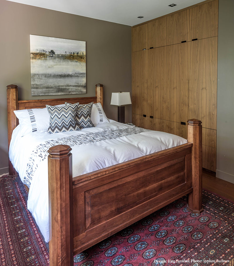 wood bed frame | rustic bedroom design | southwestern bedroom