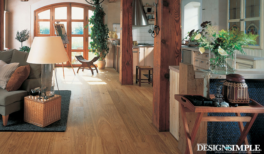 Living Room hardwood floors from Carpet One